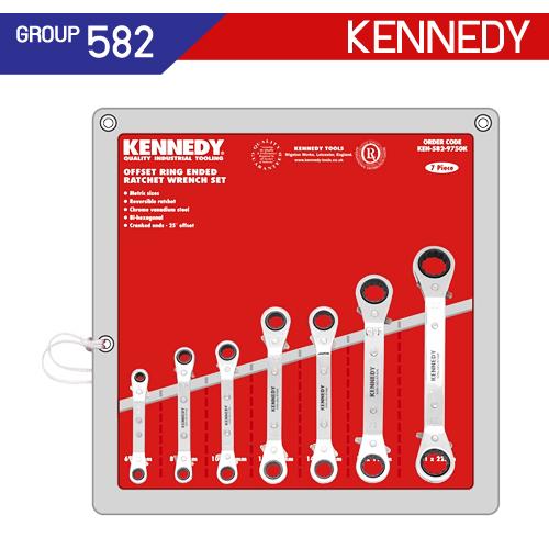 ชุดประแจแหวนฟรี คอตรง (MM - AF) KEN-582-9730K