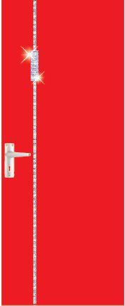 iDoor Crystal Series : Ruby Red B