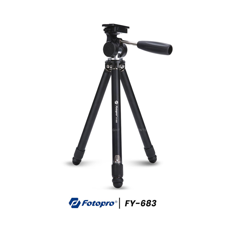 ขาตั้งกล้อง Fotopro FY-683 Compact Tripod รองรับน้ำหนักถึง 3 กิโลกรัม