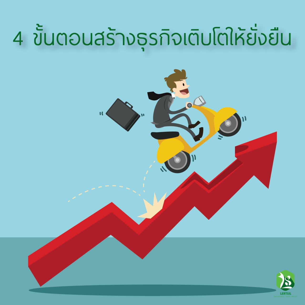 4 ขั้นตอนการสร้างธุรกิจให้เติบโตยิ่งขึ้น