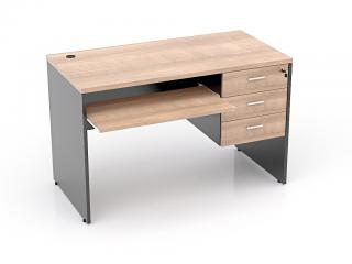 โต๊ะคอมพิวเตอร์ 3 ลิ้นชักขวา
