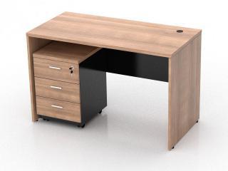 โต๊ะทำงานไม้ ตู้ลิ้นชัก 3 ลิ้นชัก