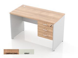 โต๊ะทำงานไม้ 3 ลิ้นชักขวา
