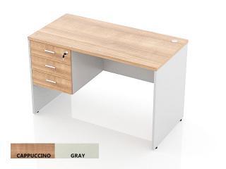 โต๊ะทำงานไม้ 3 ลิ้นชักซ้าย