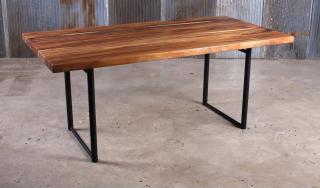 โต๊ะบาร์ไม้จริง ขาเหล็ก