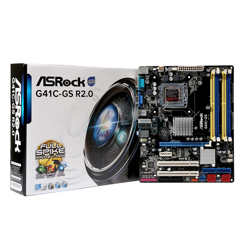 M/B ASROCK G41C- GS R2 :VGA On (775/DDR2/DDR3) : 3Y