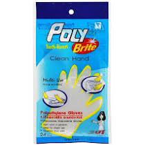 Poly ถุงมือพลาสติก