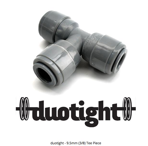 """ข้อต่อ 3 หุน 3 ทาง duotight - 9.5mm (3/8"""") Female x 9.5mm (3/8"""") Female Tee Piece"""