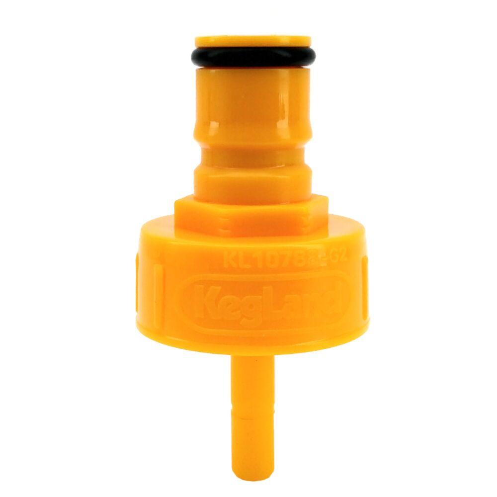 Plastic Carbonation cap คาร์โบเนชั่นแคปพลาสติกสีเหลือง