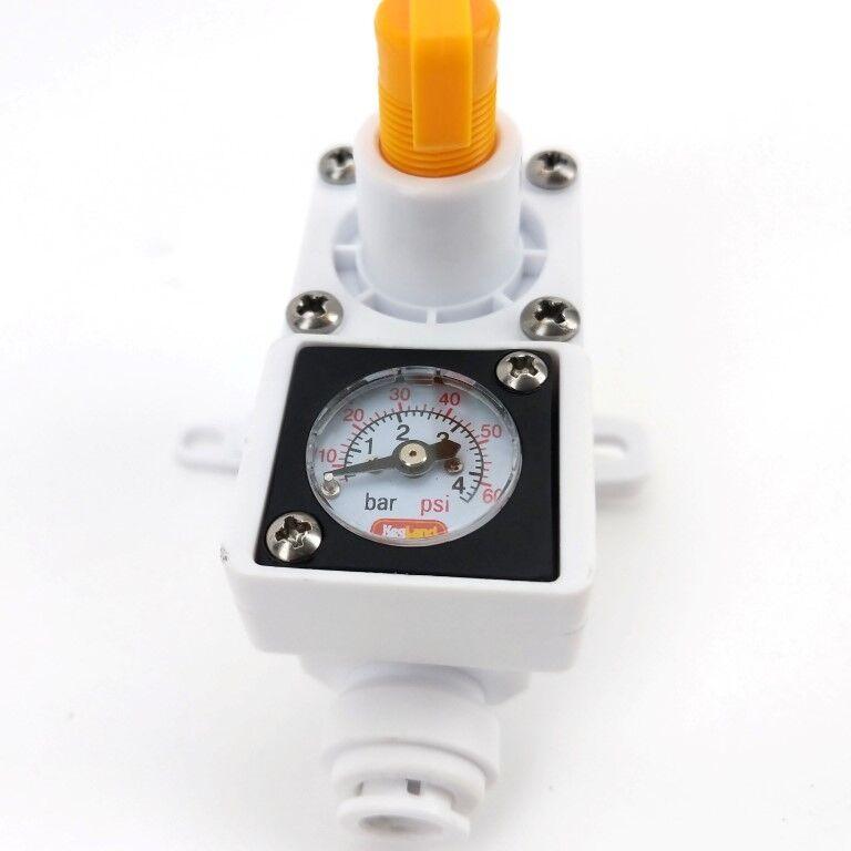 """วาวส์สำหรับ Co2 Duotight Inline In Line Regulator - With integrated gauge for water or gas - 8mm (5/16"""" Push In)"""