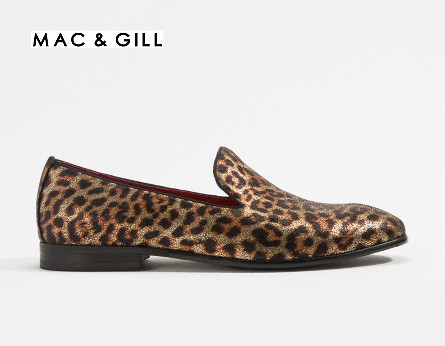 LEOPARD PRINT LEATHER LOAFERS FOR CASUAL AND EVENING PARTY