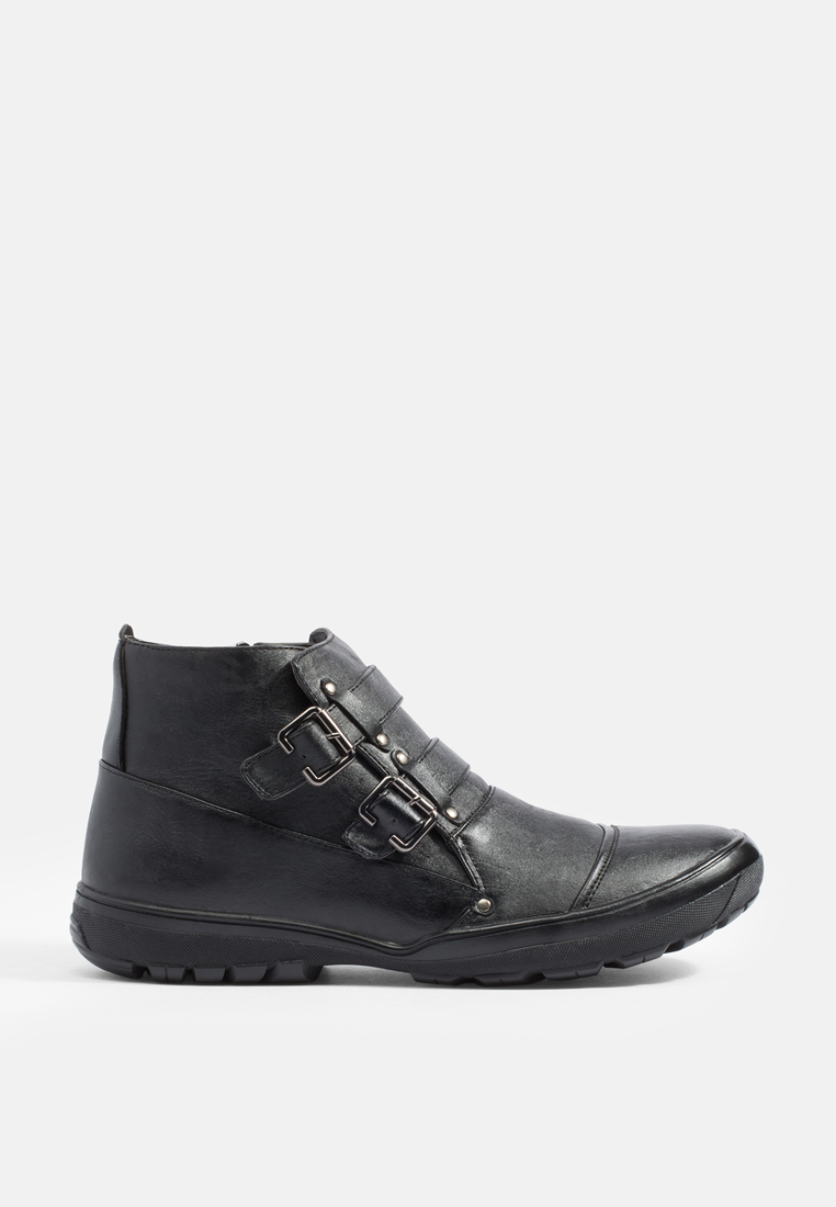 Mac & Gill Double-Strap Zipped-Side Boots Flat