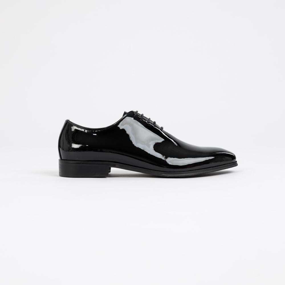 รองเท้าผู้ชายหนังแท้แบบผู้กเชีอกทางการ Men Patent leather Oxford shoes Mac&Gill NEW YORK POLICE