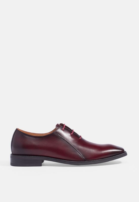 DERBY LEATHER LACE-UP DRESS SHOES
