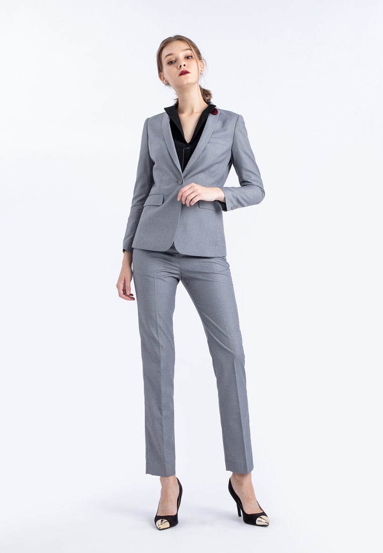 Mac & Gill Classic Royal Suit And Trousers Set in Light Grey wool