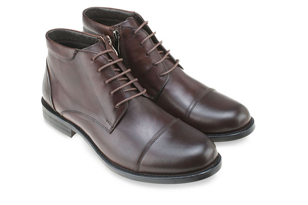 LEATHER CAPTOE DERBY BOOTS MAC & GILL