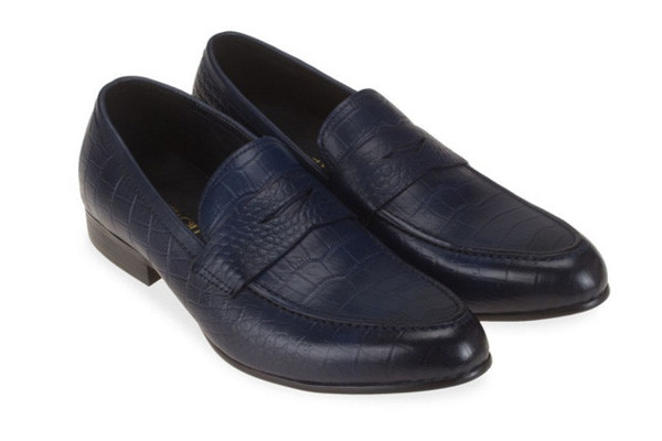 business Shoes in Crocodile Leather CROC PENNY LOAFER