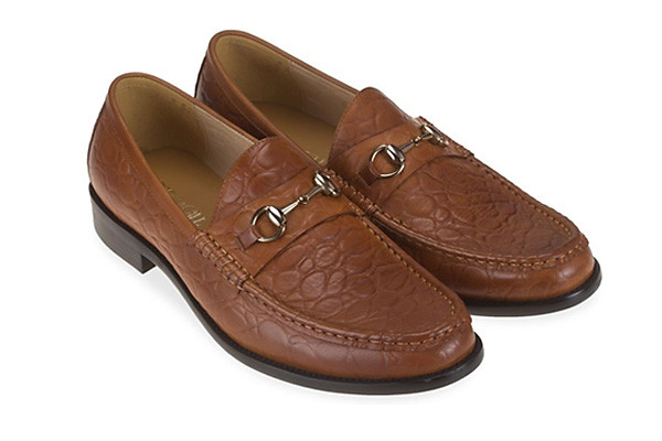 Croc Horsebit Loafer - Tan Leather Casual Slipon