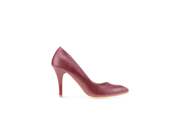 Pointed Toe High Pumps - Marron