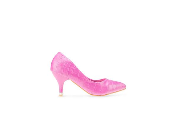 Embossed Pumps - Pink