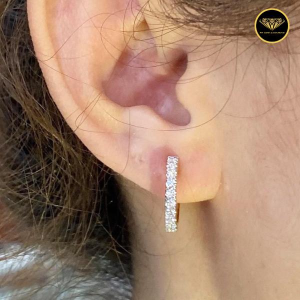 Big hoop classic earring diamond ER0012G10KPW