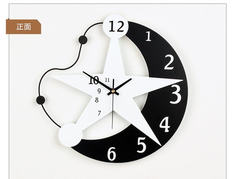 signle wall clock 6036 black