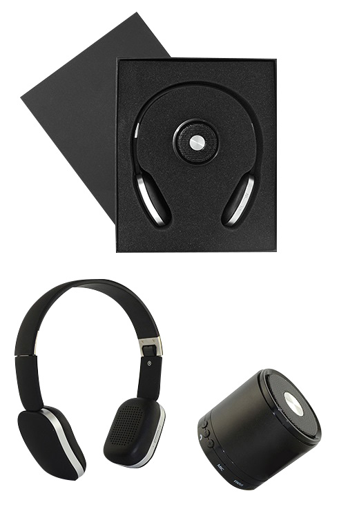 Bluetooth Speaker and Headphone Gift Set