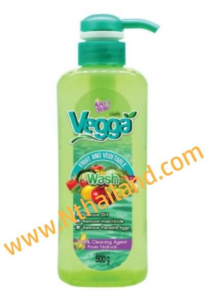 Vegga เวจก้า น้ำยาล้างผัก น้ำยาล้างผลไม้  500 ml.