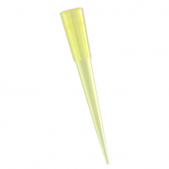 Yellow tips (Pipet tips) 1-200 ul.