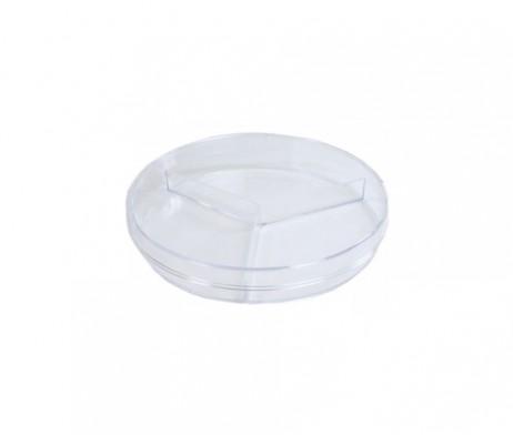 จานเพาะเชื้อ พลาสติก 3 ช่อง (Plastic Petri dish)
