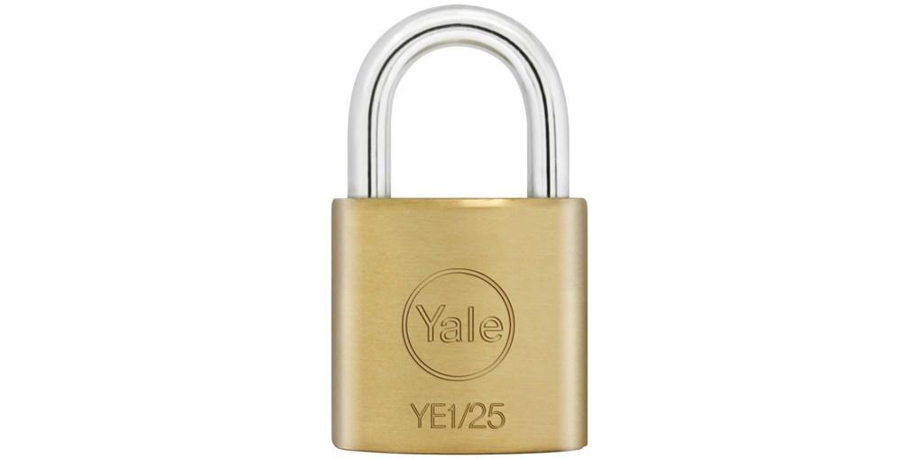 Yale Essential กุญแจคล้องทองเหลืองแท้ 25มม. ห่วงสั้น