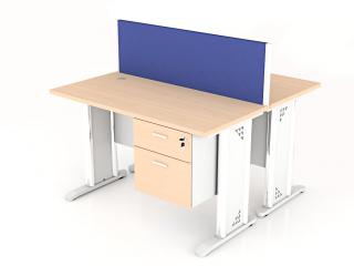โต๊ะทำงานกลุ่ม 2 ที่นั่ง