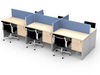 โต๊ะทำงานกลุ่ม 6 ที่นั่ง