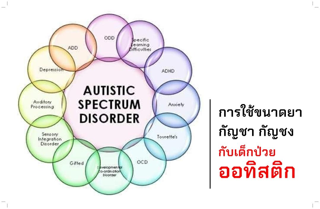การใช้ขนาดยากัญชา กัญชง กับเด็กป่วยออทิสติก