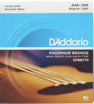 D'ADDARIO สายกีตาร์เบสโปร่ง รุ่น EPBB170-5