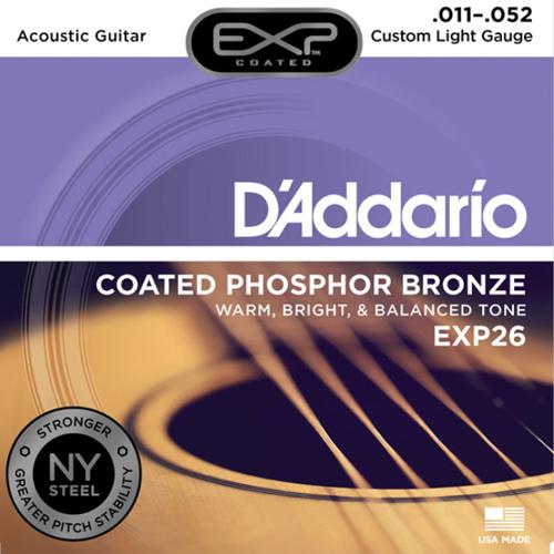 D'ADDARIO สายกีตาร์โปร่ง รุ่นEXP26