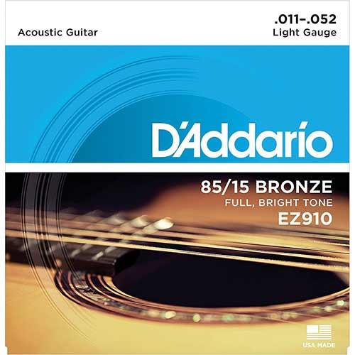 D'ADDARIO สายกีตาร์โปร่ง รุ่น EZ910