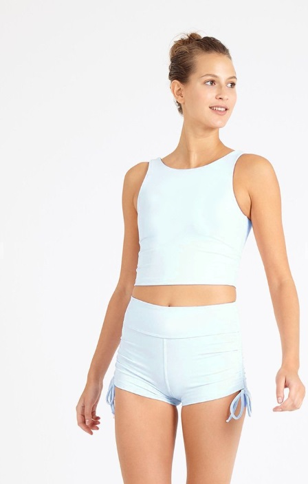 Dharma Bums - Cloud Blue Crop Tee (L)