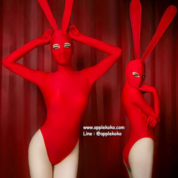 [[สินค้าหมด]] ชุดแฟนซี cosplay ชุดคอสเพลย์ แฟนซี ชุดกระต่าย บันนี่ Bunny Bunnygirl ชุดกระต่ายสีแดง