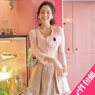 [[สินค้าขายแล้ว]] เสื้อแจ็คเก็ตสีชมพู Cherrykoko ชายเสื้อสั้น น่ารักมาก