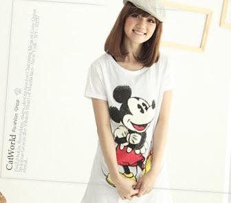 [[สินค้าขายแล้ว]] เสื้อยืดลายมิกกี้เม้า มี 3 สี สีขาว สีดำ สีเทา ยี่ห้อ Catworld