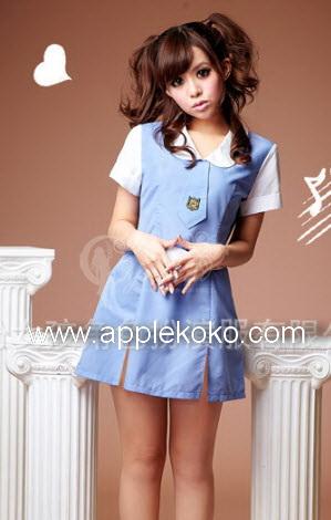 [[พร้อมส่ง]] ชุดแฟนซี cosplay ชุดนักเรียนญี่ปุ่น แบบชุดนักเรียนอนุบาลสีฟ้าคอปกบัวสีขาวไท้สีฟ้า