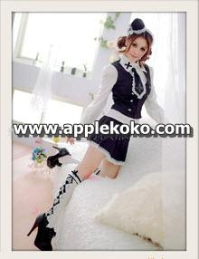 [[พร้อมส่ง]] ชุดแฟนซี cosplay  ชุดนักเรียนญี่ปุ่น สไตล์ผู้ใหญ่เสื้อเชิร์ตแขนยาวมีเสื้อกั๊กด้านนอก