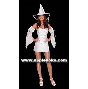 [[พร้อมส่ง]] ชุดแฟนซี ชุดฮาโลวีน Cosplay Halloween ปีศาจสาว ชุดแม่มดขาว