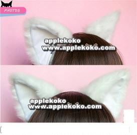 [[พร้อมส่ง]]  หูแมว หูแมวคอสเพลย์ แฟนซี cosplay คอสเพลย์ ที่คาดผมหูแมวสีขาว