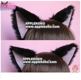 [[พร้อมส่ง]] หูแมว หูแมวคอสเพลย์ แฟนซี คอสเพลย์ cosplay แบบที่คาดผมสีดำหูในชมพู ขนฟู