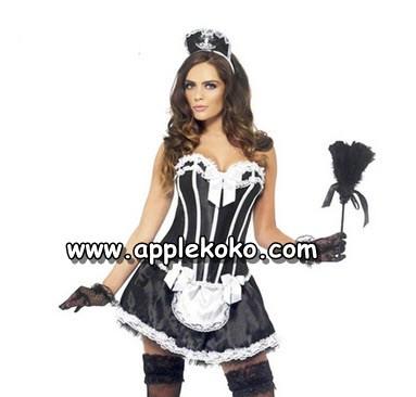 [[พร้อมส่ง]] ชุดแฟนซี cosplay ชุดคอสเพลย์ ชุดแม่บ้าน โลลิต้า lolita ชุดแม่บ้านฝรั่ง