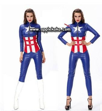 [[สินค้าหมด]] ชุดแฟนซี cosplay ชุดคอสเพลย์ ชุดยอดมนุษย์ ซุปเปอร์ฮีโร่ การ์ตูน ชุดกัปตันอเมริกา