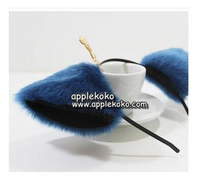 [[พร้อมส่ง]] หูแมว หูแมวคอสเพลย์ แฟนซี cosplay คอสเพลย์ หูแมวสีน้ำเงิน สามารถใส่ได้ 2 แบบ แบบกิ๊บ และ ที่คาดผม