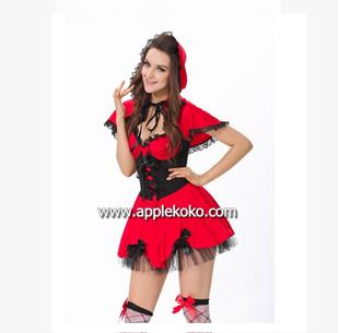 [[พร้อมส่ง]] ชุดแฟนซี cosplay ชุดคอสเพลย์ ชุดหนูน้อยหมวกแดง